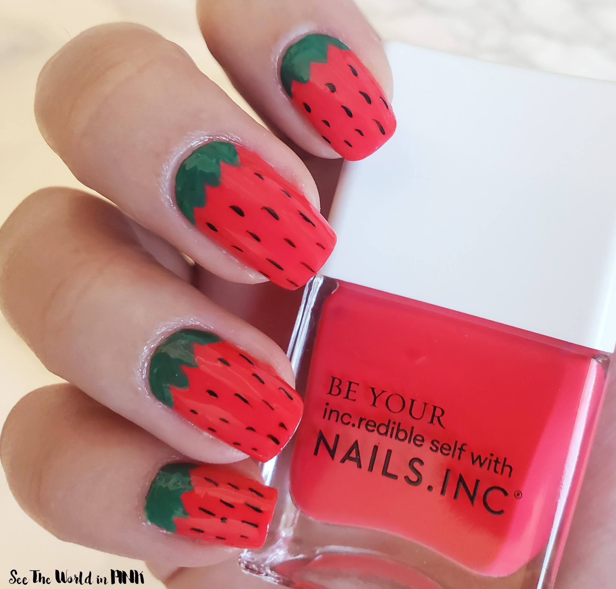 Manicure Monday - Strawberry Nails