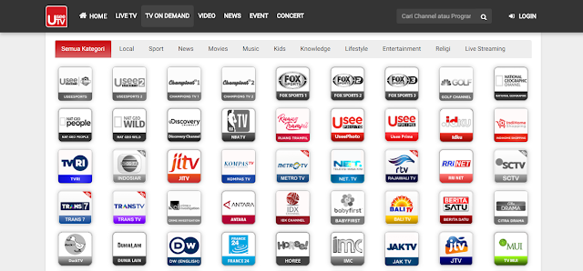 Fitur TV on Demand di UseeTV