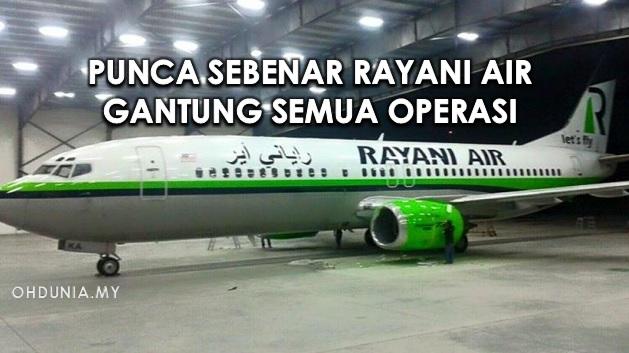 Ini Punca Sebenar Rayani Air Gantung Semua Operasi?