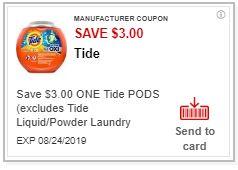 LOAD $3/1 Tide Pods CVS APP ONLY MFR Coupon (cvs.com/App)