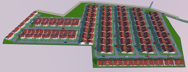 membuat site plan 3d