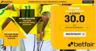betfair supercuota victoria de Brasil a Mexico 2 julio