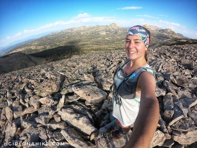 Hiking to Haystack Mountain, High Uintas