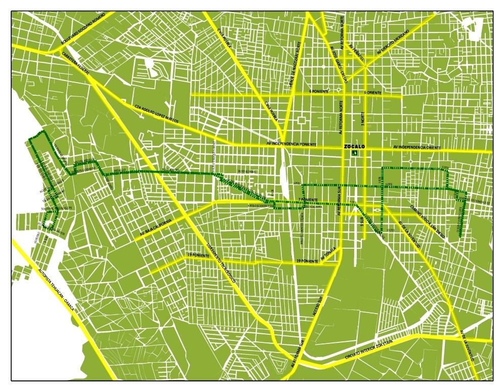Tehuac 225 N Lugar De Dioses Rutas De Transporte Colectivo