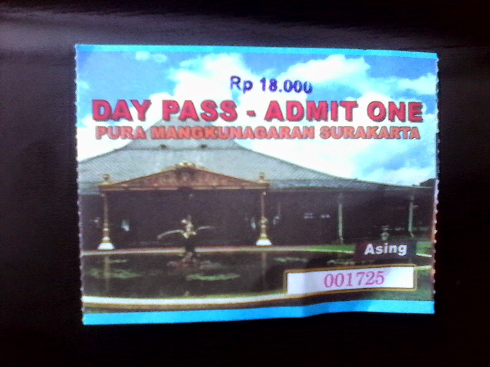 solo palace mangkunegaran ticket