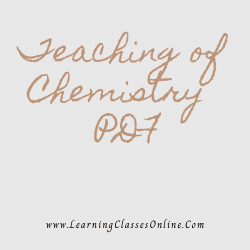 Teaching of Chemistry PDF download free in English Medium Language for B.Ed and all courses students, college, universities, and teachers