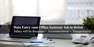 Data Entry Operator cum Office Assistant Jobs In Dubai