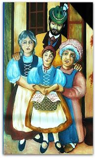 Pintura de Chapeuzinho Vermelho no Jardim de Infância ou Creche Municipal de Forquetinha (RS)