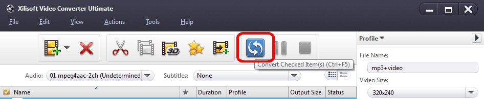 Cách ghép nối Video với Xilisoft Video Converter