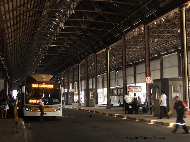 Terminal Urbano Padre Henrique Otte de onde partem os ônibus para a Zona Sul