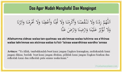 Doa Agar Dimudahkan Menghafal Dan Mengingat