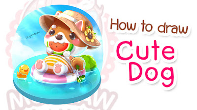 How to Draw a Cute Dog step by step tutorial