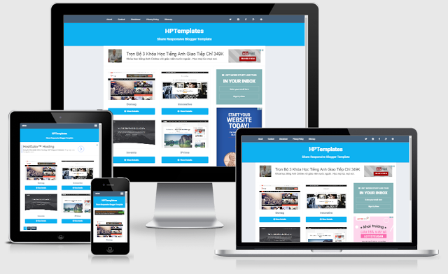 HPTemplate Responsive Blogger Template