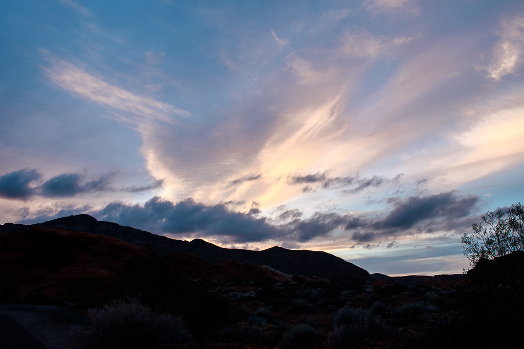 sunset at valley of fire state park death valley red rock canyon nature in nevada USA