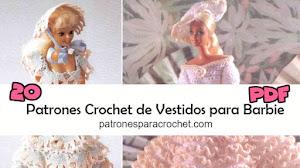 20 patrones crochet de vestidos para Barbie