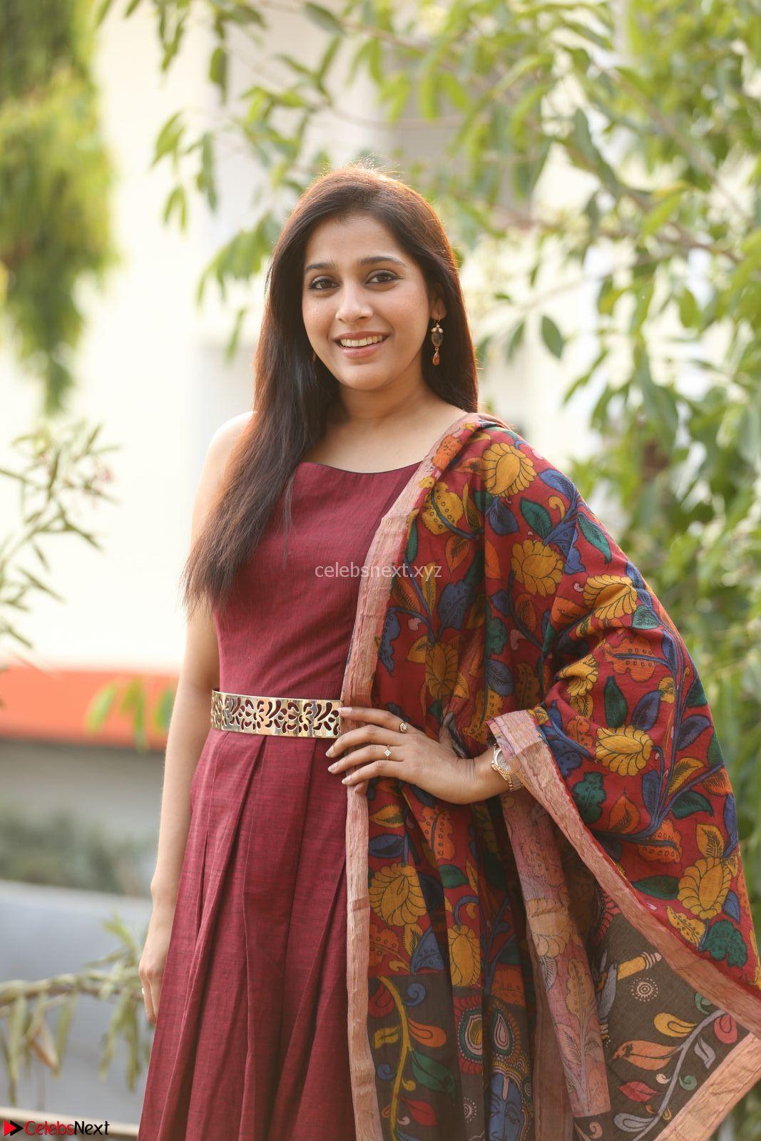 Reshmi in a Lovely Maroon Sleevless Dress at Lakme Summer Resort 2017 Pre Show Press Meet