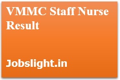 VMMC Staff Nurse Result 2017