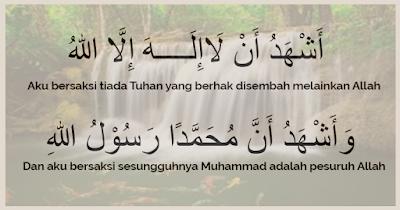 1. Dua kalimat Syahadat