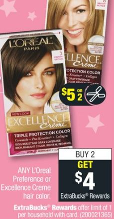 L'Oreal Preference cvs couponers deals