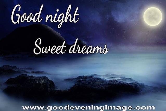 Good Night photo with moon
