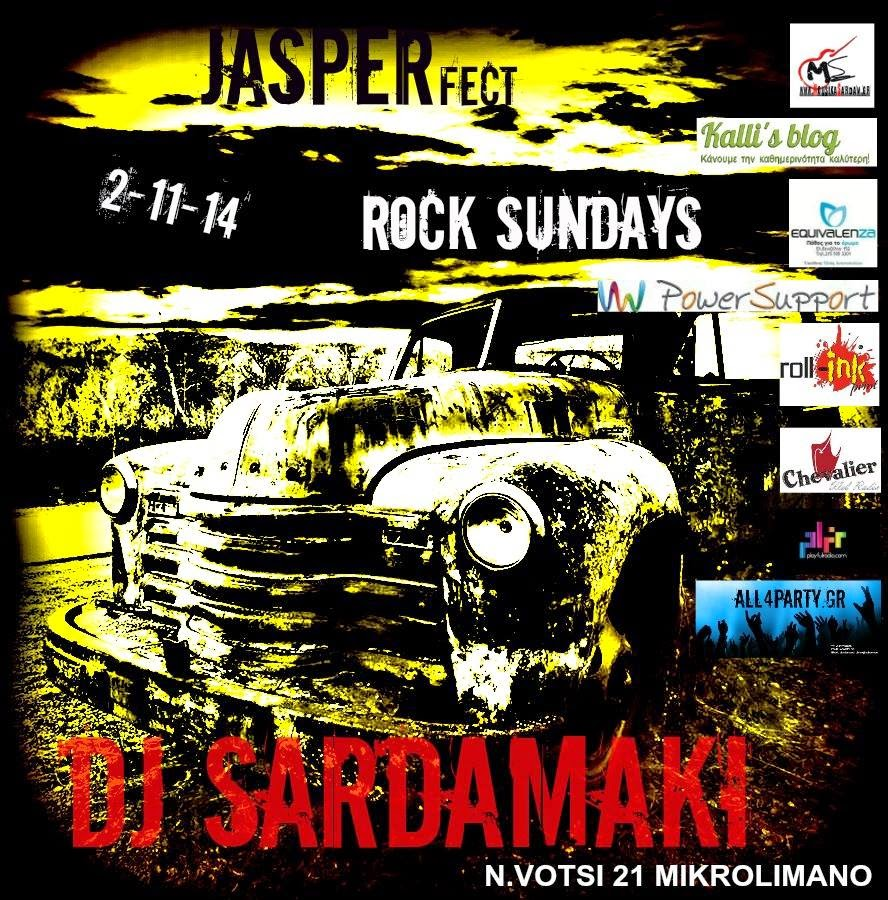 Rock Sunday with DJ Sardamaki at Jasper Coctail Bar