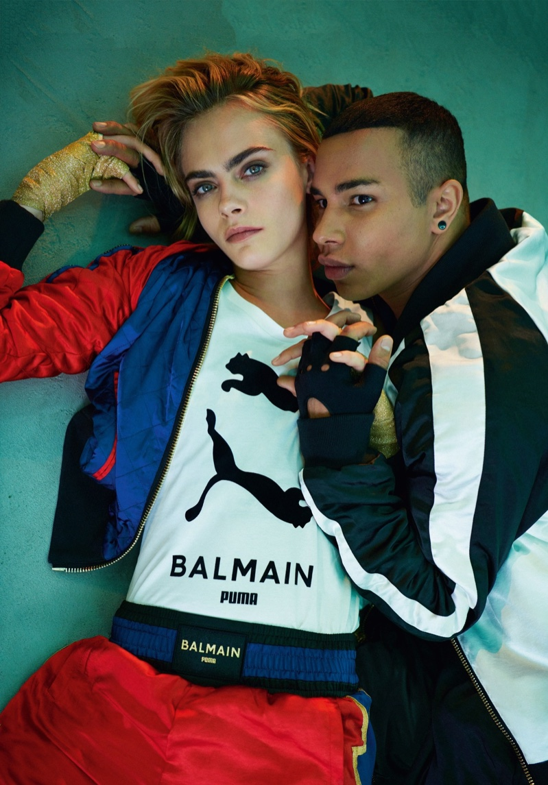 Cara Delevingne and Olivier Rousteing on Their New Puma x Balmain Collection