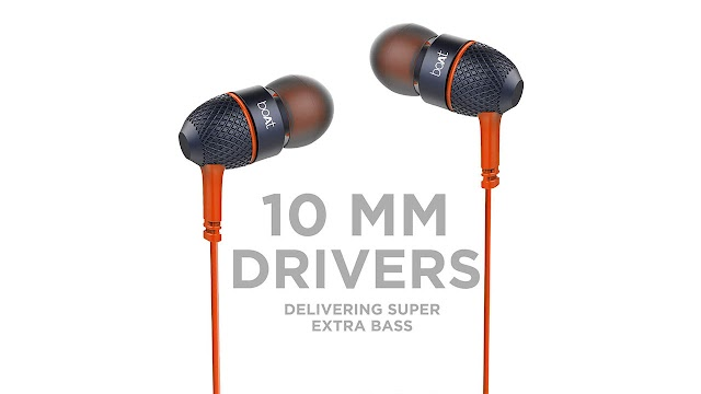 boAt BassHeads 225  Wired Earphones with Super Extra Bass Rs 549