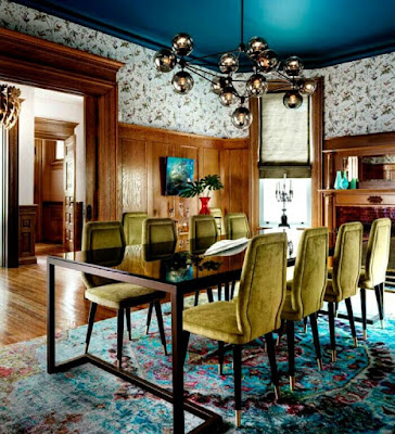 Victorian home interior design and decor for dining area