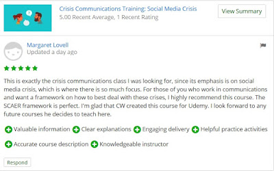 online course review crisis communications
