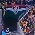 Bandeirão do Fluminense chama a atenção no amistoso entre Brasil x Inglaterra