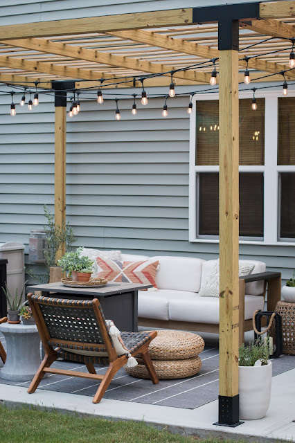 Modern Pergola over a Budget-Friendly Patio