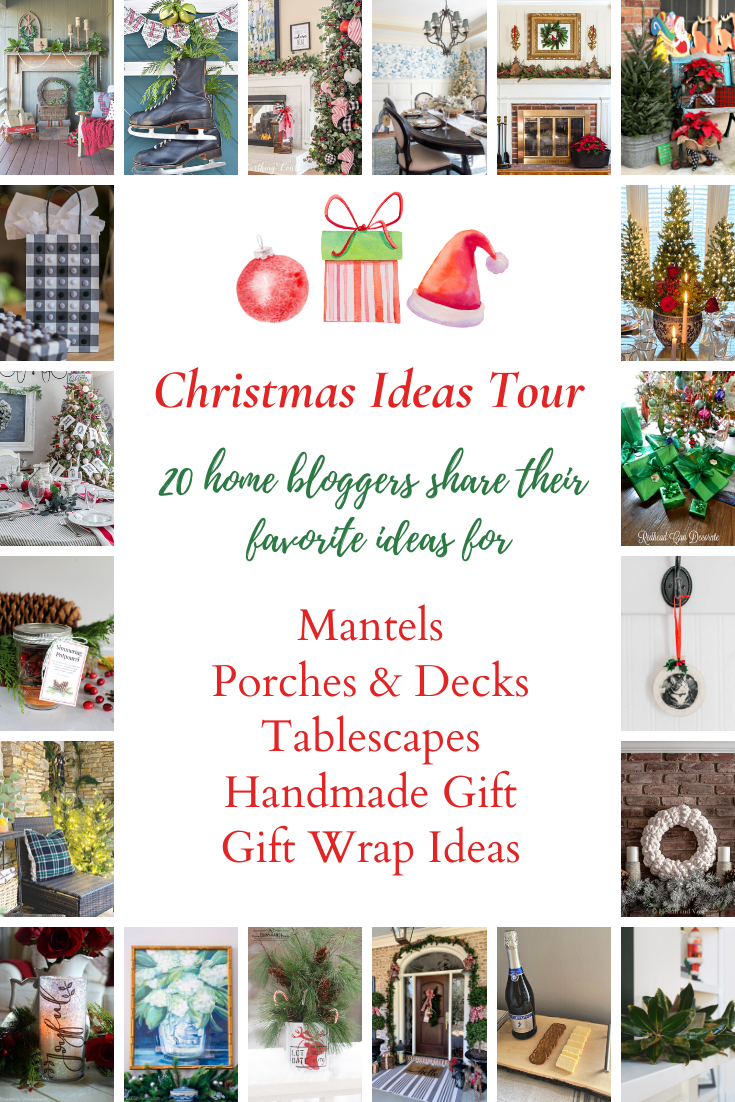 images of Christmas decor and handmade gifts