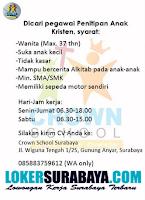 Lowongan Kerja di Crown School Surabaya Terbaru November 2019