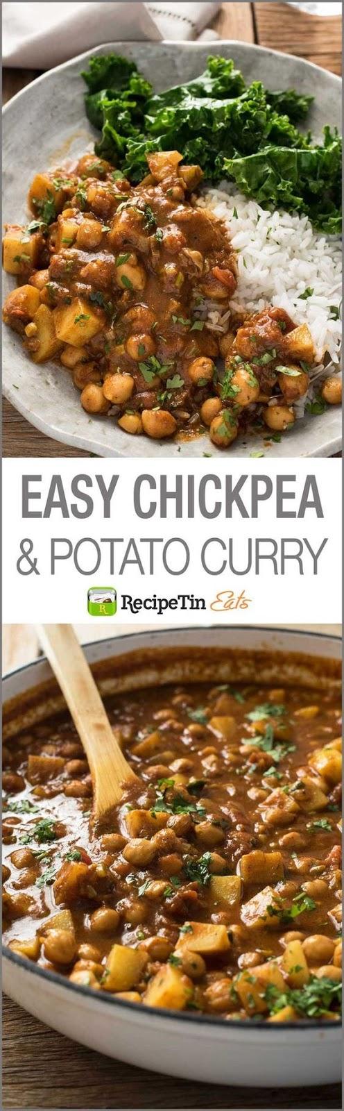 Easy Chickpea & Potato Curry