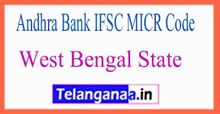 Andhra Bank IFSC MICR Code West Bengal State