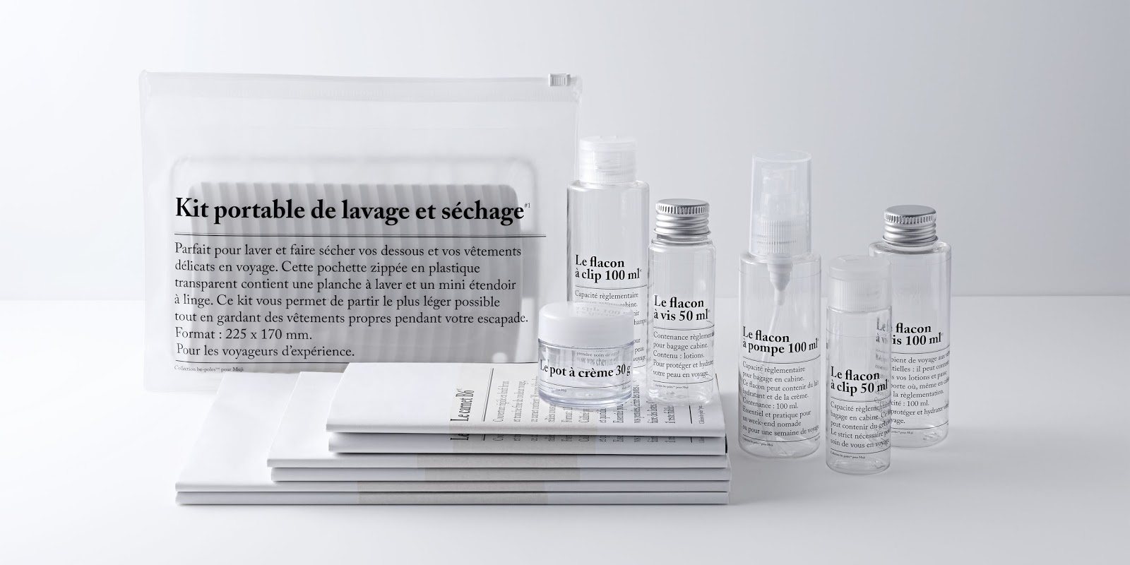 muji, be poles, voyage, collaboration, collection capsule, kit voyage