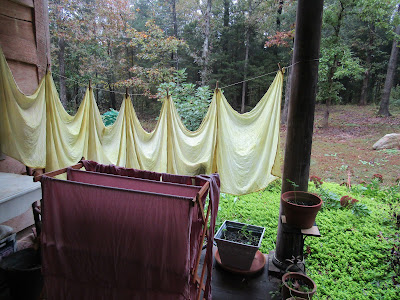 Newest goldenrod and avocado dyed fabrics