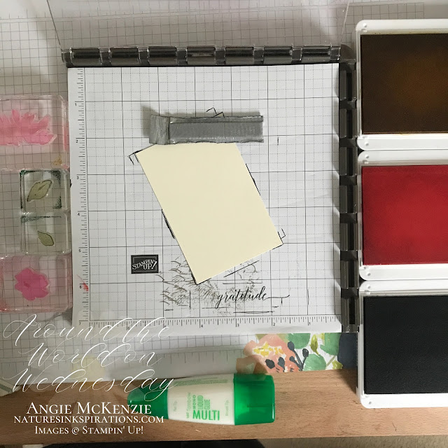 By Angie McKenzie for Around the World on Wednesday Blog Hop; Click READ or VISIT to go to my blog for details! Featuring the Hand-Penned Petals Cling Stamp Set along with Heartfelt Wishes and Love of Leaves by Stampin' Up!® to create 10 note cards in 30 minutes;  #10in30  #stamping #aroundtheworldonwednesdaybloghop #awowbloghop #handpennedpetals #heartfeltwishes  #loveofleaves #naturesinkspirations #notecards #simplestamping #stamparatus #diycrafts #makingotherssmileonecreationatatime #cardtechniques #stampinup #handmadecards #stampinupcolorcoordination #simplestamping #papercrafts #linenthread #coloringwithblends #stampingwithmarkers