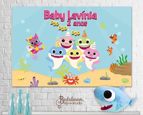 Baby Shark, painel, arte para painel, painel baby shark, festa infantil, festa baby shark, arte digital, kit digital, arte personalizada