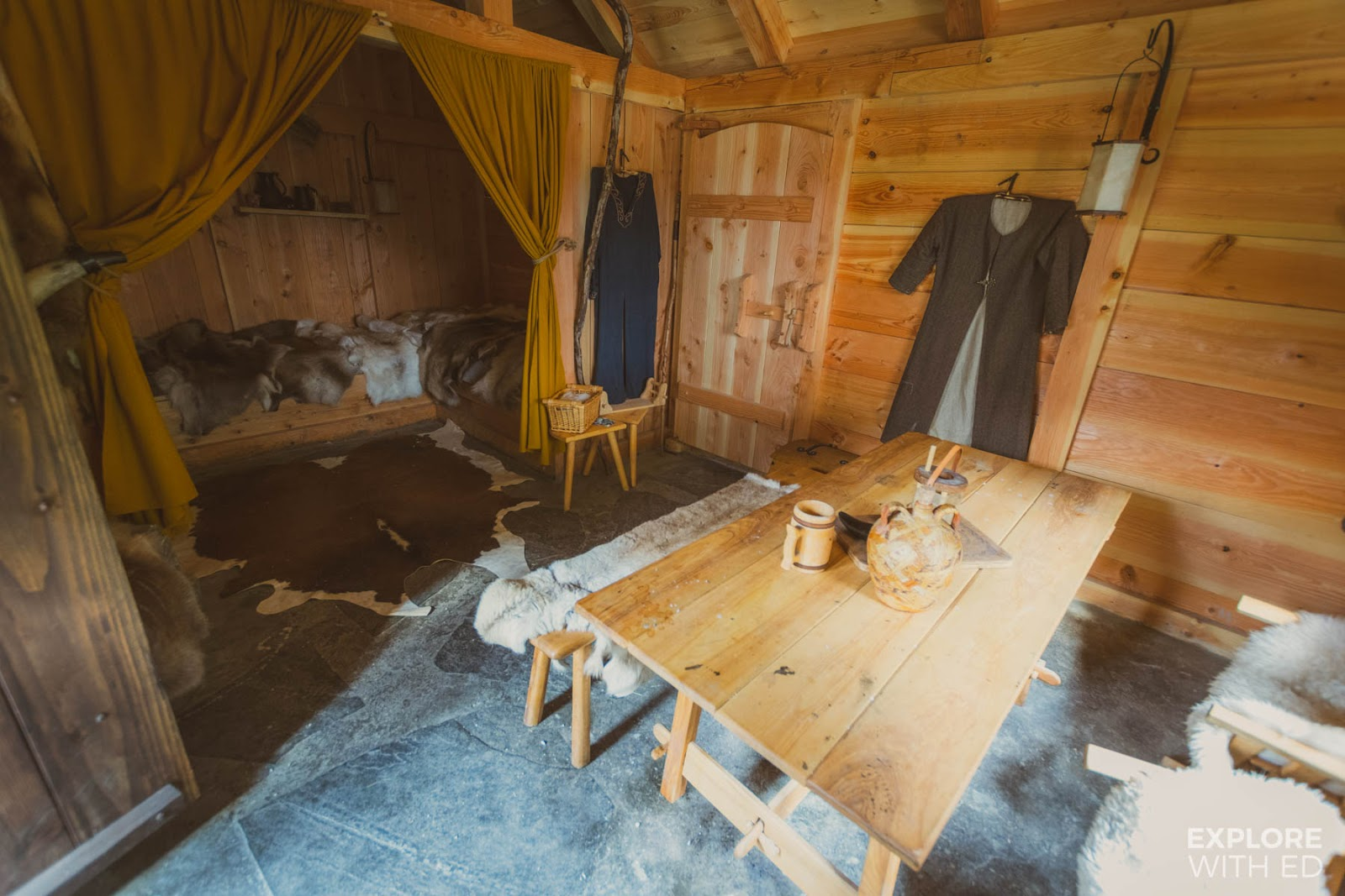 A typical Viking house at the Njardarheimr Viking Valley