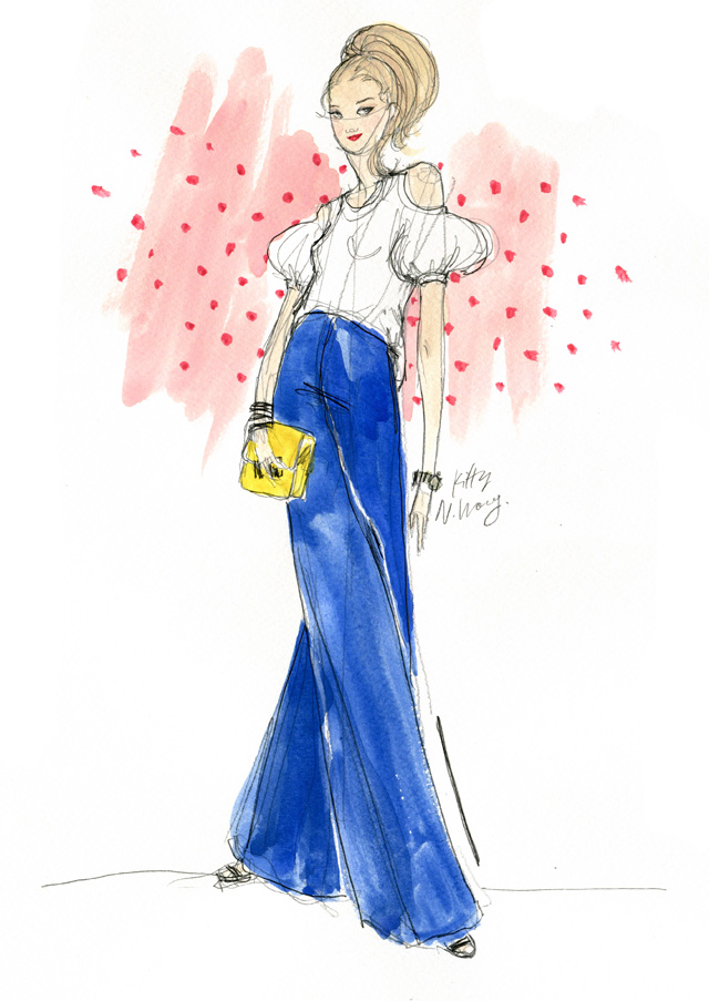 Kitty N. Wong / Blue Fashion Illustration