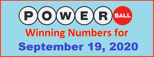 PowerBall Winning Numbers for Saturday, September 19, 2020