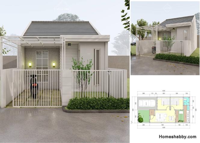 Desain Rumah Minimalis Hemat Biaya Dengan Luas Bangunan 50 M2 Dan Luas Tanah 6 X 12 M Lengkap Dengan Denah Homeshabby Com Design Home Plans Home Decorating And Interior Design