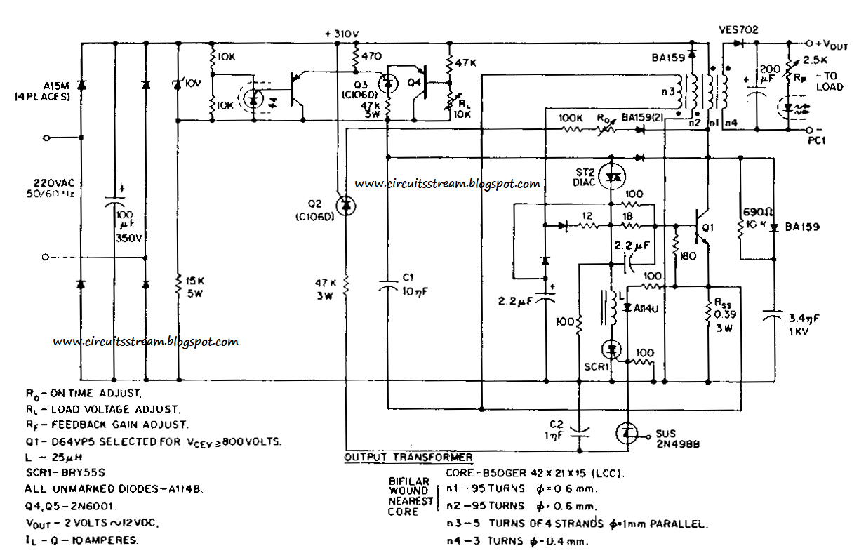 build a switching power supply circuit diagram