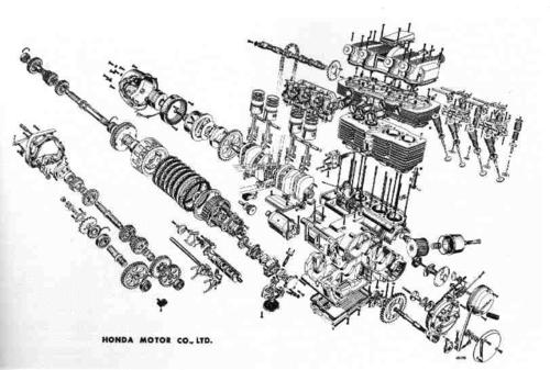 Barking Mad Speed Shop: Exploded View Diagrams Honda CB