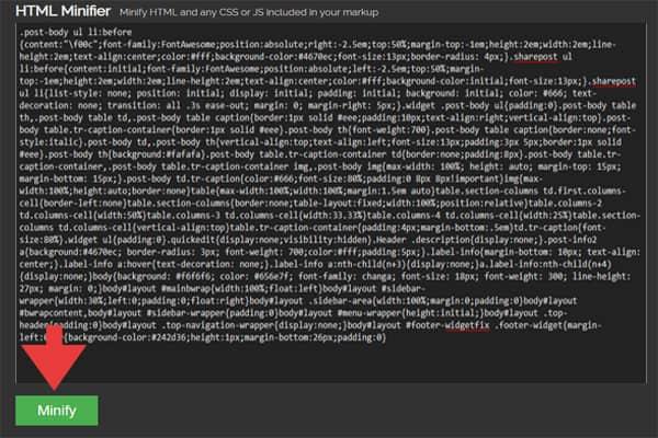 ضغط اكواد البرمجة لتسريع الموقع