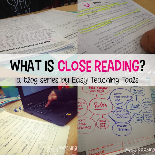 Using text-dependent questions with close reading has been eye-opening for me because previously, we were taught to front-load everything and activate students' schema to increase their engagement.  As teachers, we're now strongly encouraged to ask questions that force our students to delve into the text and provide evidence for their answer.