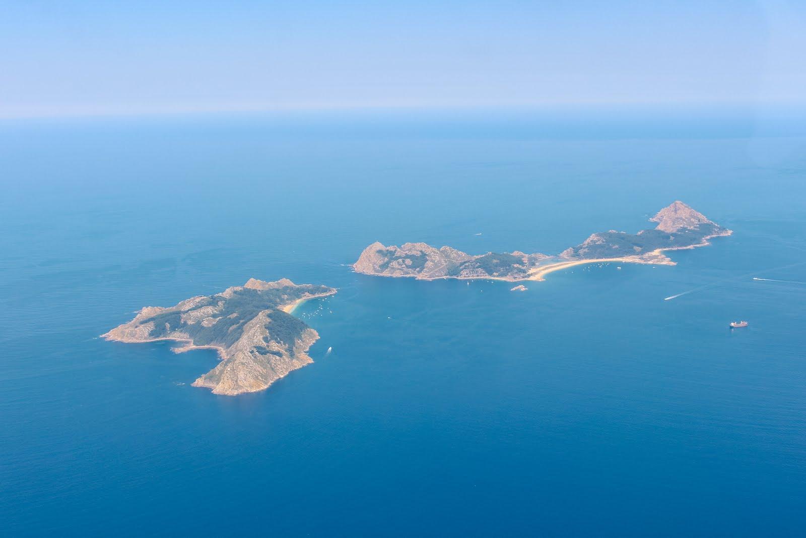 Las islas Cíes vistas desde el cielo