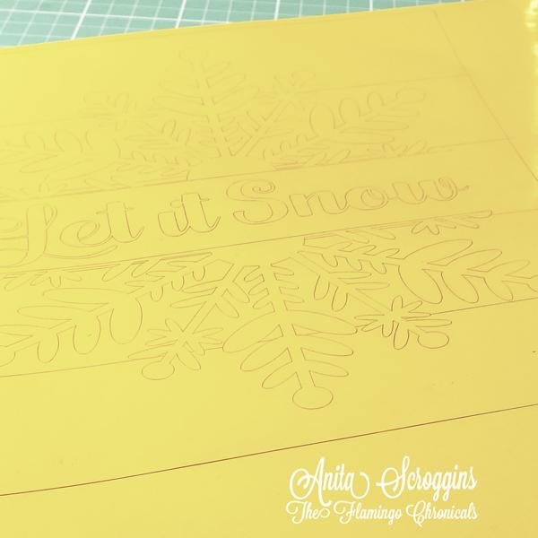 Etching stencil