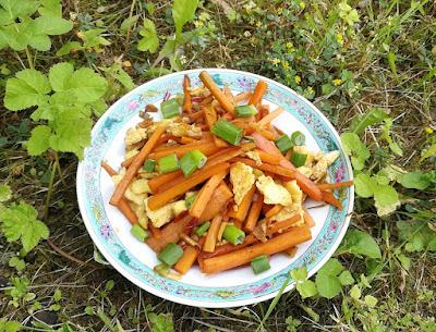 Karotte mit Ei, chinesisch